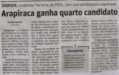 Arapiraca ganha quatro candidatos