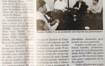 Deputados aguardam prefeito para instalar IC m Arapiraca