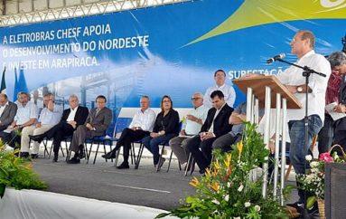 Renan participa da inauguração da nova subestação de Arapiraca