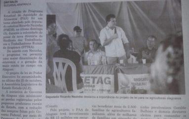 Ricardo Nezinho defende aprovação do PAA Estadual