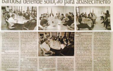 Barbosa defende soluções para abastecimento