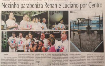 Nezinho parabeniza Renan e Luciano por Centro