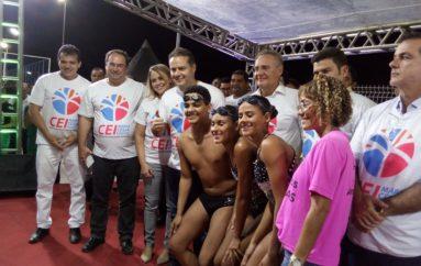 Ricardo Nezinho parabeniza Renan e Luciano pela construção do Centro de Educação Integral
