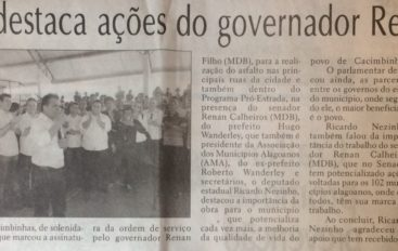 Nezinho destaca ações do governo Renan Filho