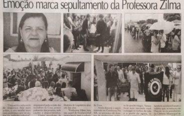 Emoção marca o sepultamento da Professora Zilma
