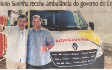 Prefeito Seninha recebe ambulância do governo do Estado