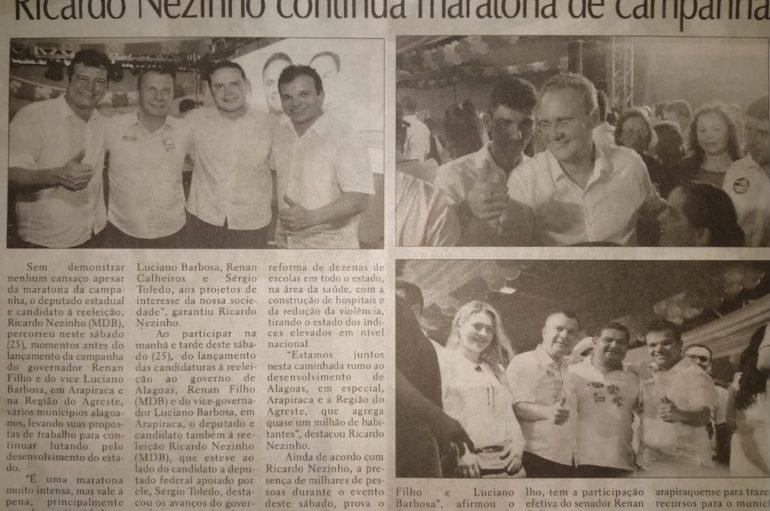 Ricardo Nezinho continua maratona de campanha