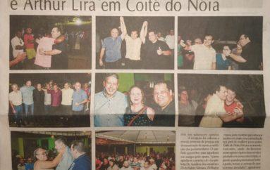 Seninha recepciona Ricardo Nezinho e Artur Lira em Coité do Nóia