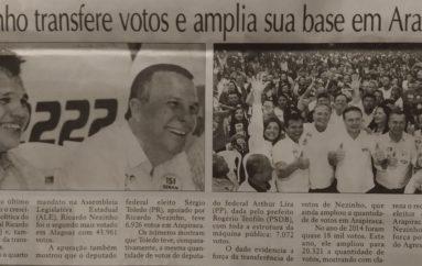 Nezinho transfere votos e amplia a sua base em Arapiraca