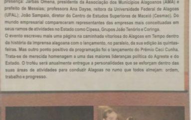 Alagoas em Tempo comemora 4 anos da sua fundação