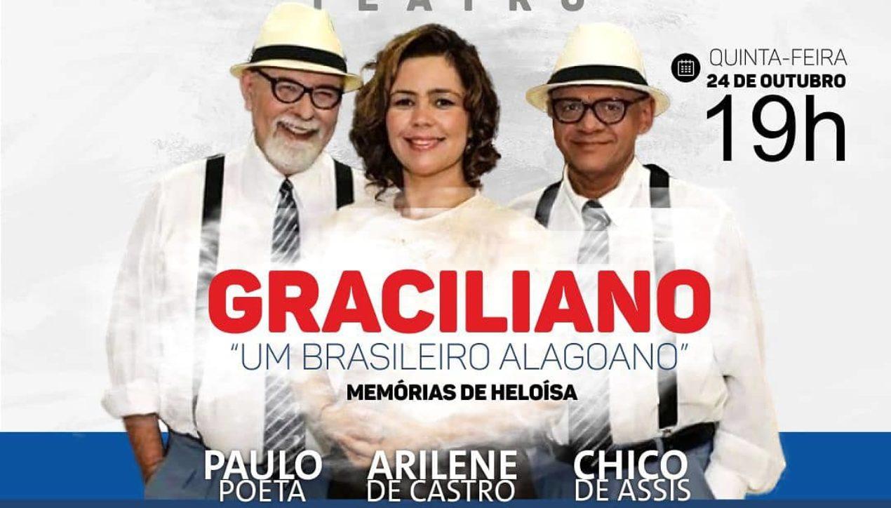 Hoje em Arapiraca: espetáculo sobre Graciliano Ramos tem entrada 0800 e ator global
