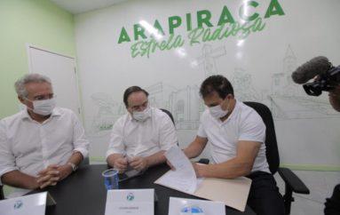 Deputado Ricardo Nezinho participa de solenidade de assinatura da ordem de serviço para início das obras do Centro de Convenções de Arapiraca